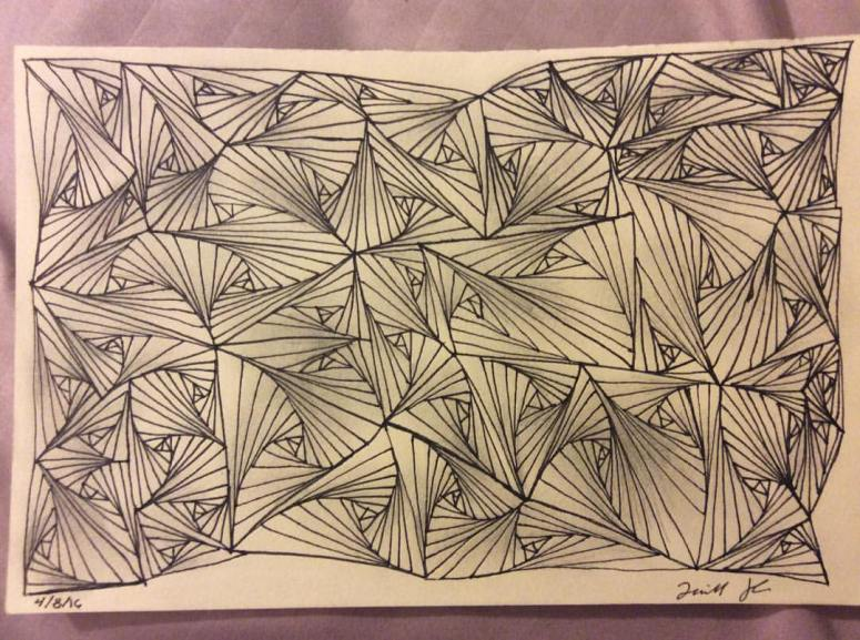Shaded Zentangle