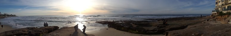 Panoramic shot of the tidepools